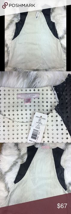 NWT Romeo & Juliet later cut  faux leather NWT Romeo & Juliet later cut  faux leather Aline white black Romeo & Juliet Couture Tops
