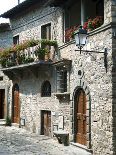 Montefioralle, Greve in Chianti, Firenze Province, Tuscany, Italy Stone Cottages, Stone Houses, Stone Homes