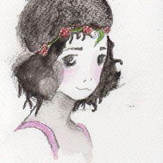 Carte postale-portrait d'enfants-original-personnalisé-aquarelle-beau papier