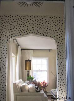 Simple Details: foyer reveal...unexpected pizazz