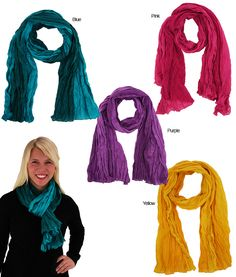 This season show off your sense of style with our trendy ombre scarf!  Bold and beautiful, these dip dyed light weight scarves are a colorful work of art and are a fabulous finish to any outfit. Generously sized, they make great wraps and pareos.