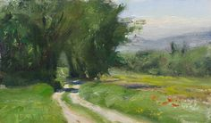 daily painting titled Route de Crillon-le-Brave, printemps - click for enlargement