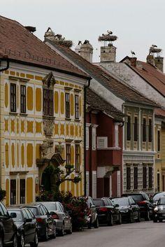 Burgenland, stork's nests atop chimneys are everywhere! Places Around The World, Around The Worlds, Vienna Woods, Stork, Salzburg, Running Away, Homeland, Travel Ideas, Places Ive Been