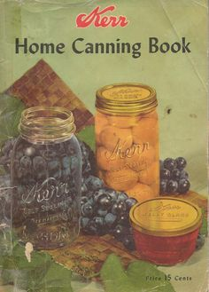 old canning book