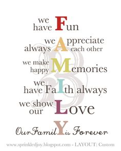 Family Mission Statement Print - Customizable Print in Many Colors, Subway… Family Motto, Family Rules, Family Love, Family Poems, Love My Family Quotes, Strong Family, Family Wall, Happy Family, Great Quotes