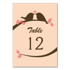 ==> reviews          Coral and Chocolate Love Bird Table Cards           Coral and Chocolate Love Bird Table Cards today price drop and special promotion. Get The best buyShopping          Coral and Chocolate Love Bird Table Cards Review on the This website by click the button below...Cleck Hot Deals >>> http://www.zazzle.com/coral_and_chocolate_love_bird_table_cards-256158499926259650?rf=238627982471231924&zbar=1&tc=terrest