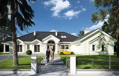 Projekt domu Rezydencja Parkowa - wizualizacja frontu