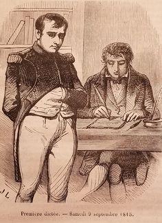 Napoleone detta le memorie a Las Cases. Napoleon Josephine, Waterloo 1815, French Army, Hard Times, Memoirs, Cases, Manga, Illustration, Artwork