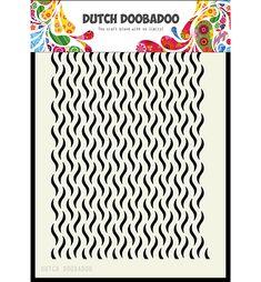 Dutch Doobadoo mask art Floral waves (Babs)