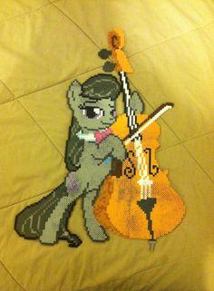 MLP Big Octavia Cello perler beads by dorkking12