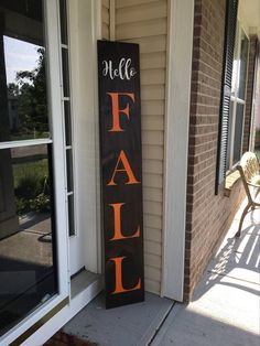 6 Foot Hello Fall Wood Sign Hello Fall Fall sign Fall wood sign Large fall sign porch sign Harvest sign Thanksgiving sign Home decor Fall Wood Projects, Fall Wood Crafts, Wooden Crafts, Wooden Diy, Wooden Signs, 2x4 Crafts, Wooden Boards, Vinyl Projects, Pallet Projects