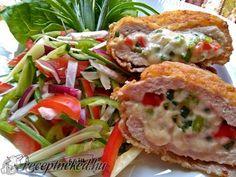 Érdekel a receptje? Kattints a képre! Salmon Burgers, Lunch, Chicken, Ethnic Recipes, Nails, Pork, Finger Nails, Ongles, Eat Lunch