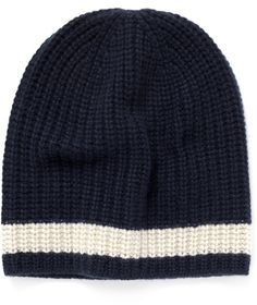 $110, Navy Horizontal Striped Beanie: Alex Mill Stripe Cashmere Beanie. Sold by Lane Crawford. Click for more info: https://lookastic.com/men/shop_items/121309/redirect
