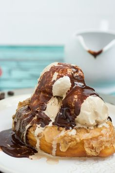 Coffee and Donuts Ice Cream Sundae