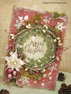 Dagmara Kos : Messy Christmas part 1,  Christmas card