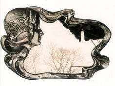 Art Nouveau Sculpture Mirror C 1900 Art Deco Vanity, Jugendstil Design, Vintage Mirrors, Art Nouveau Design, Mirror Art, Mermaid Art, Arts And Crafts Movement, Art Forms, Amazing Art