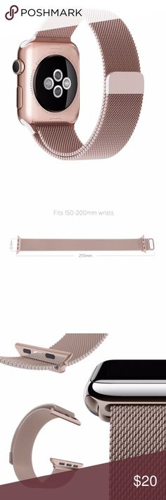 NEW Rose Gold Stainless Band For Apple Watch 42mm ▪️Brand new in retail box  ▪️Fits Apple watch sizes 42   ▪️Milanese mesh w/ magnetic closure  ▪️High Quality 360L stainless steel   ▪️*Watch not included*  ▪️Same or next business day shipping! Accessories Watches