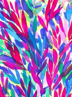Tropicali Art Print by Jacqueline Maldonado | Society6 Tropical Print, Summer, Tropical Summer Pattern, Tropical Watercolor Painting