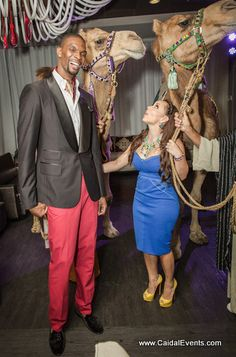 Chris Bosh, Adrienne, Henri the Camel & Jacob the Camel