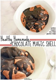 Healthy Homemade Chocolate Magic Shell | Vegan | Paleo | Healthy Dessert | Gluten Free | Soy Free | Ice Cream Toppings | Healthy Dessert Recipe | Nice Cream