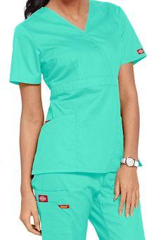Dickies EDS signature missy fit mock wrap scrub top Main Image