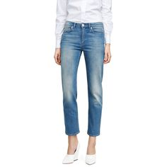 Acne Row prince jeans are defined by their relaxed fit and cropped leg.