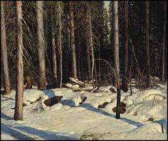 Frank Johnston - Recherche Google Nature Paintings, Landscape Paintings, Franklin Carmichael, Tom Thomson Paintings, Algonquin Park, Group Of Seven, Winter Art, Canadian Artists, Canoe