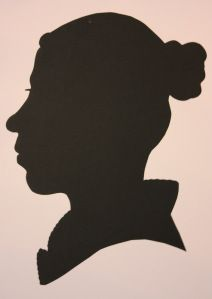 A silhouette I handcut at the Jane Austen festival