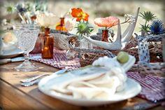 beautiful wild table setting
