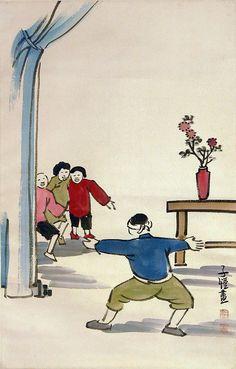Feng Zikai (1898 - 1975)   豐 子 愷 Children at Play 童 戲 图