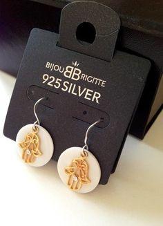 Kaufe meinen Artikel bei #Kleiderkreisel http://www.kleiderkreisel.de/accessoires/ohrringe/120849694-ohrringe-925er-echtsilber-vergoldet-hand-der-fatima