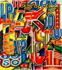 collage, typographic abstraction, typographic abstractions, abstract art, typography, abstract lettering, asemic collage