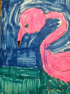Cornwell Fam: Flamingo Fun in the Art Classroom