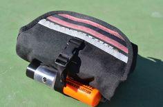 HIP BAG, waterproof belt pack in stock, black cordura 1000D U lock holster, waist pack, tactical modular commuting