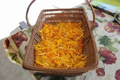 Making your own soap using making your own calendula infused oil with olive oil and coconut oil, from Down to Earth.