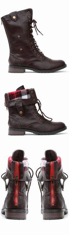 Brandon Boots - foldable top / zipper back
