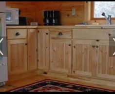 Rustic Pine Kitchen Cabinets | The Rustic Plank Kitchen Unit Housing ...