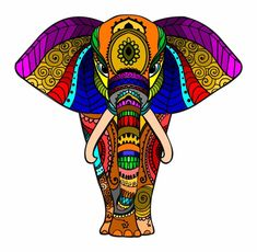 42 Ideas For Drawing Beautiful Coloring Pages Mandala Design, Mandala Art, Wal Art, Mandalas Drawing, Elephant Art, Dot Painting, Painting Tips, Abstract Paintings, Watercolor Painting