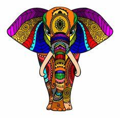 42 Ideas For Drawing Beautiful Coloring Pages Mandala Art, Mandalas Drawing, Mandala Design, Wal Art, Elephant Art, Elephant Tattoos, Dot Painting, Painting Tips, Abstract Paintings