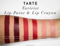 The Beauty Vanity | tarte tarteist lip paint lip crayon review swatches