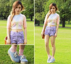 Pastel Colour Block & Giveaway! (by Chloe T) http://lookbook.nu/look/3261237-Pastel-Colour-Block-Giveaway