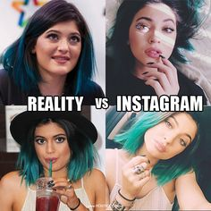 Kylie Jenner in Real Life vs Kylie Jenner on Instagram. Oh the power of an edit!