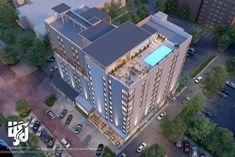 Visualization is expert in architectural rendering, walkthrough, architecural visualization, animation, interior design and realistic rendering Hotel Design Architecture, Architecture Plan, 3d Architectural Rendering, 3d Rendering, Modern Family House, Structured Water, Hotel Apartment, Apartments, Rooftop Pool