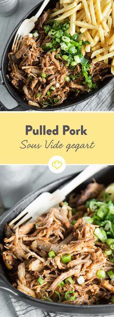 Saftig, zart und lecker: Mit einem Sous-Vide-Garer ist die Zubereitung von Pulled Pork besonders easy. Wie es funktioniert, erfährst du hier.