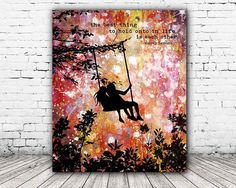 ON SALE 20% OFF Each Other - stretched canvas print, audrey hepburn quote, girls room decor, mixed media painting, friendship quotes, canvas