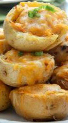 Buffalo Chicken Potato Bites
