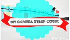 How to make a super easy No Sew Pillow Cover - Fresh Idea Studio Diy Camera Strap, Camera Strap Cover, Sewing Pillows, Diy Pillows, Easy No Sew Pillow Covers, Cute Diys, Diy Projects, Super Easy, How To Make