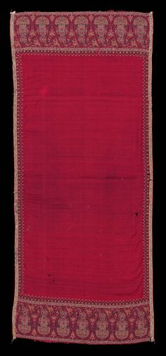 1830, Asia - Shawl - Cashmere twill tapestry