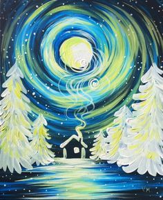 Join us for a Paint Nite event Thu Dec 2016 at Berry St Winnipeg, MB. Purchase your tickets online to reserve a fun night out! Christmas Canvas, Christmas Paintings, Christmas Art, Whimsical Christmas, Winter Painting, Diy Painting, Painting & Drawing, Winter Art Projects, Still Life
