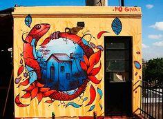 Arte urbano, pintura e ilustración de FIO SILVA